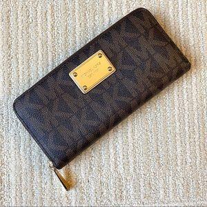 Michael Kors Signature Zippered Wallet